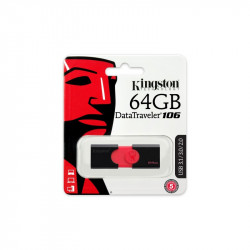 CLE USB 64GB KINGSTON 3.1 DATTRAVELER 106 ROUGE/NOIR