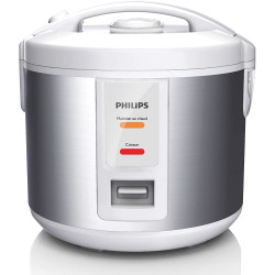 CUISEUR A RIZ PHILIPS HD3011/08 1L DAILY COLLECTION INOX/BLANC