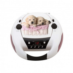 RADIO CD BIGBEN CD52DOGS 2 CHIENS FM/AUX (LR14)