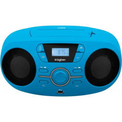 RADIO CD BIGBEN CD61BLUSB LED USD BLEU