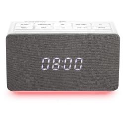 RADIO REVEIL BIGBEN CL301P DOUBLE ALARME USB/AUX PROJECTEUR BLANC