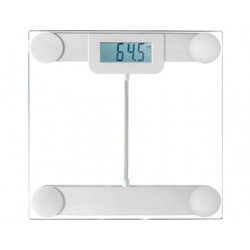 PESE PERSONNE LIVOO DOM253W 180KG/100G VERRE BLANC