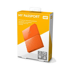 DISQUE DUR EXTERNE 2TB WESTERN DIGITAL MY PASSPORT ORANGE