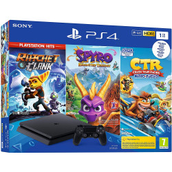 CONSOLE SONY PS4 SLIM 1TO + CTR + SPYRO + RATCHET
