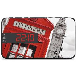 RADIO REVEIL BIGBEN RR15TB2 TELEPHONE BOX DOUBLE ALARME
