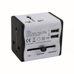 ADAPTATEUR SECTEUR CLIP-SONIC TEA185 UNIVERSEL + 2 USB