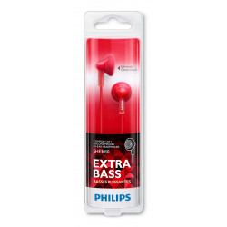 CASQUE ECOUTEURS PHILIPS SHE3010RD/00 CLEARTONES UPBEAT ROUGE
