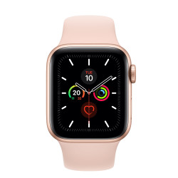 MONTRE APPLE WATCH SERIES 5 40MM GOLD BRACELET ROSE SPORT