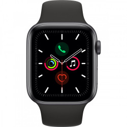 MONTRE APPLE WATCH SERIES 5 44MM SPACE GREY BRACELET NOIR SPORT