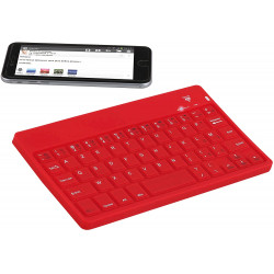 CLAVIER CLIP-SONIC TEA142R SILICONE ROUGE BT AZERTY