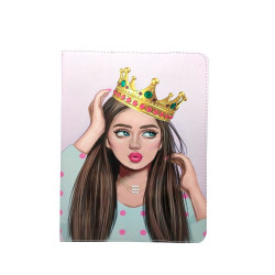 """ETUI TABLETTE 7-8"""" UNIVERSEL LADY AND CROWN"""