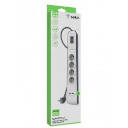 MULTIPRISE PARAFOUDRE BELKIN BSV401CA2M 4P +USB