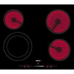 TABLE DE CUISSON VITRO BEKO HIC64502T 4F VERRE NOIR