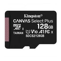 CARTE MEMOIRE MICRO SD 128GB KINGSTON CANVAS SELECT PLUS CLASS10