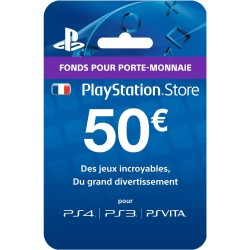 PS4 - CARTE PLAYSTATION STORE 50€