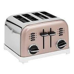 GRILLE PAIN CUISINART CPT180PIE 4 TRANCHES INOX-ROSE
