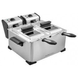 FRITEUSE KITCHENCHEF KCPFR70X DOUBLE CUVE 2X1KG INOX