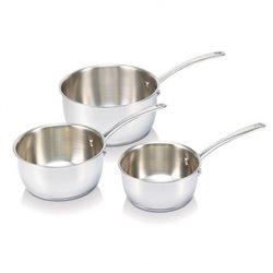 CASSEROLES BEKA 13516974 LOT DE 3 16/18/20 BLANC