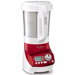 BLENDER CHAUFFANT MOULINEX LM906110 1100W 2L SOUP AND CO ROUGE